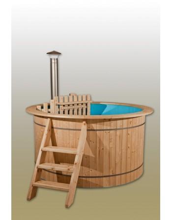 Plastic spruce hot tub