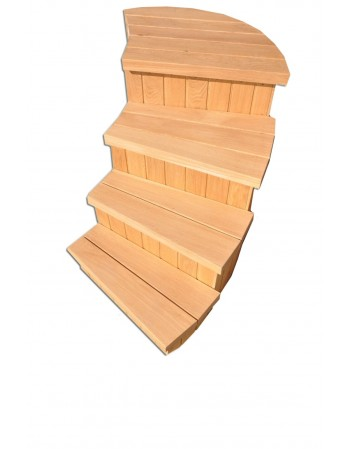 Type C steps for hot tub