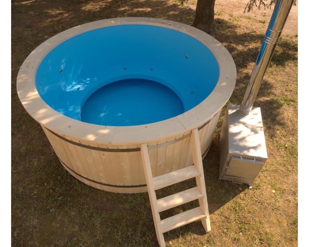 220 cm plastic tub with wood trim. Black Bedroom Furniture Sets. Home Design Ideas