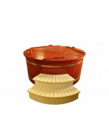 Painted spurce wood hot tub 220 cm