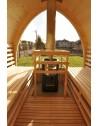 Sauna with panoramic window