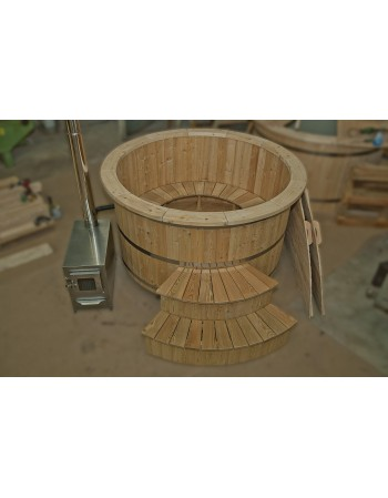 Garden hot tub made of larch wood 180cm