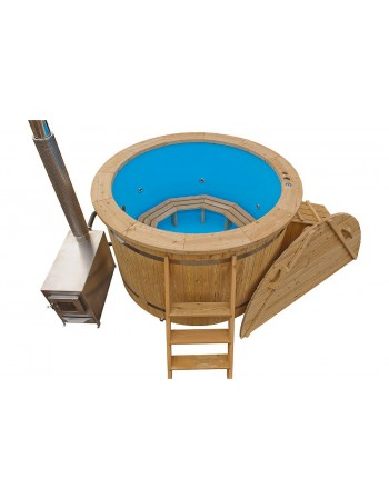 Hot tub 1,6 m plastic with larch trim