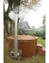 1,82 m Fiberglass tub with integrated stove