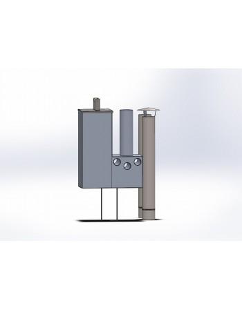 Internal aluminium stove 16 kW