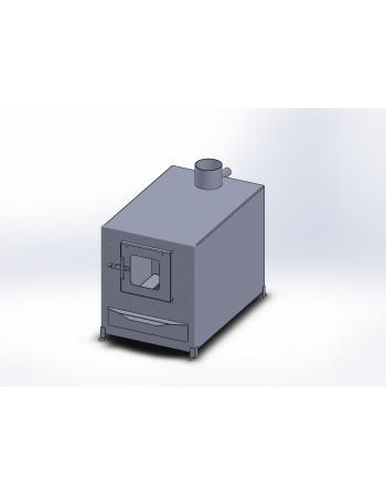 External aluminium stove 35 kW