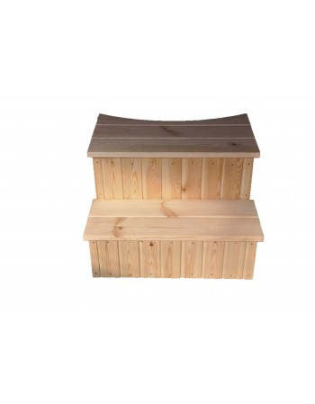 Type D steps for hot tub