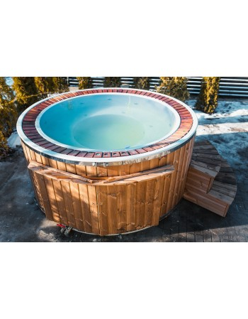 Fiberglass 1,9 m hot tub with overflow system