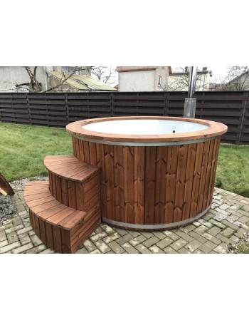 Hot tubs jacuzzi outdoor tubs sauna for Fiberglass garden tubs