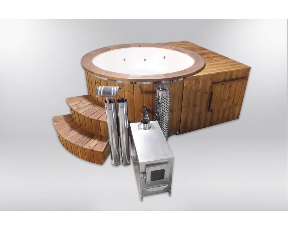 Great and luxury fiberglass hot tub 182cm