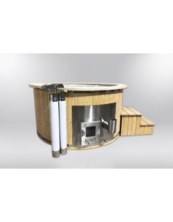 Economical fiberglass hot tub with 2 heaters 180cm