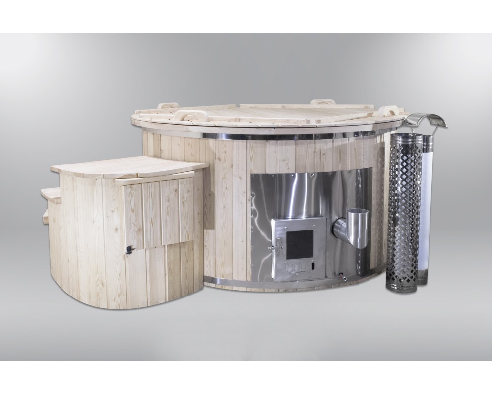Economical fiberglass hot tub with 2 heaters 180cm