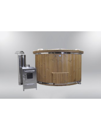 Pleasant and comfortable fiberglass hot tub 160cm