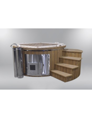 Fiberglass hot tub with podium 180cm