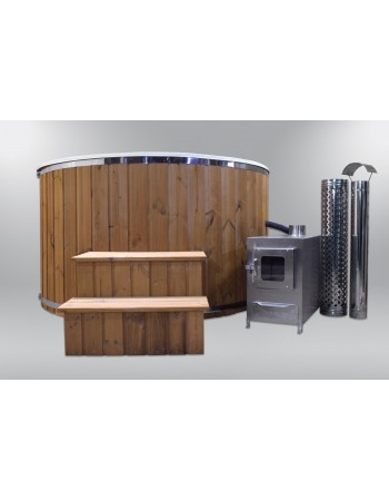 Fiberglass hot tub with fiberglass sill 180cm