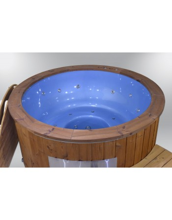 Exclusive fiberglass hot tub blue colour 182cm