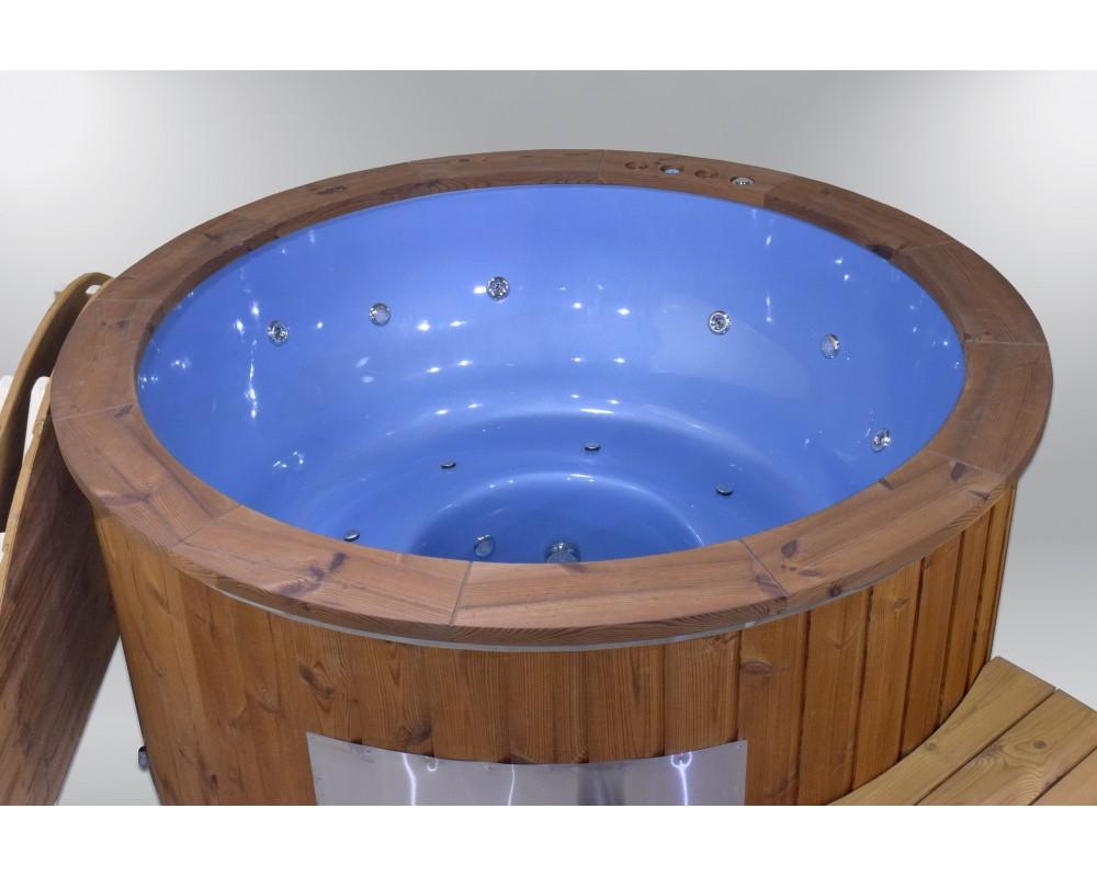 Exclusive fiberglass hot tub blue colour 182cm