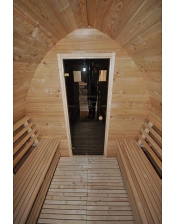 sauna glass door