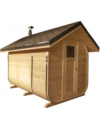 Sauna for garden (inclined roof)
