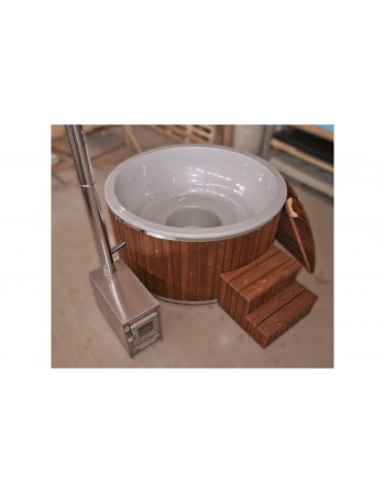 Pearly colour hot tub made of fibreglass