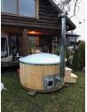 ROYAL WELLNESS tub with larch trim 1,8 m