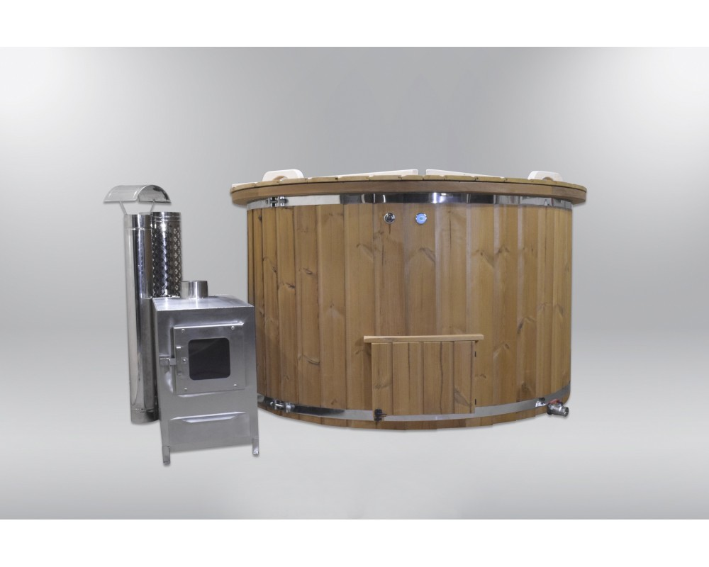Pleasant and comfortable fiberglass hot tub 160cm
